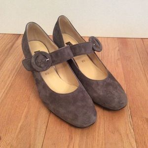 Gabor suede Mary Jane shoes